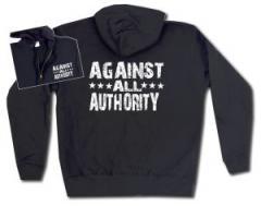 """Zur Kapuzen-Jacke """"Against All Authority"""" für 30,00 € gehen."""