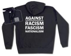 """Zur Kapuzen-Jacke """"Against Racism, Fascism, Nationalism"""" für 29,24 € gehen."""