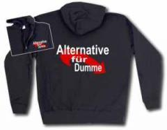 """Zur Kapuzen-Jacke """"Alternative für Dumme"""" für 30,00 € gehen."""