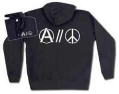 """Zur Kapuzen-Jacke """"Anarchy and Peace"""" für 29,24 € gehen."""