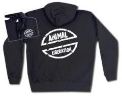"""Zur Kapuzen-Jacke """"Animal Liberation"""" für 30,00 € gehen."""