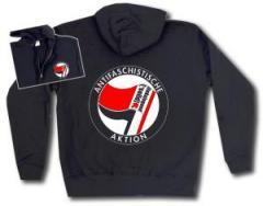 """Zur Kapuzen-Jacke """"Antifaschistische Aktion - linksjugend [´solid]"""" für 33,00 € gehen."""