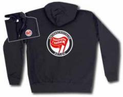 """Zur Kapuzen-Jacke """"Antifaschistische Aktion Linksjugend"""" für 33,00 € gehen."""