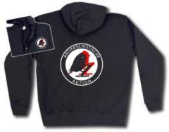 """Zur Kapuzen-Jacke """"Antifaschistische Aktion - Vögel"""" für 30,00 € gehen."""