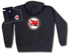 """Zur Kapuzen-Jacke """"Antifaschistische Simsomfahrer"""" für 32,00 € gehen."""