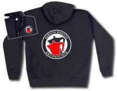 """Zur Kapuzen-Jacke """"Barista Barista Antifascista (Moka)"""" für 30,00 € gehen."""