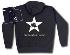 """Zur Kapuzen-Jacke """"Der Kampf geht weiter!"""" für 30,00 € gehen."""
