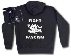 """Zur Kapuzen-Jacke """"Fight Fascism"""" für 29,24 € gehen."""