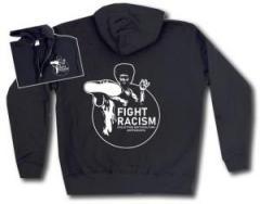 """Zur Kapuzen-Jacke """"Fight Racism - Collectivo Sottocultura Antifascista"""" für 31,19 € gehen."""