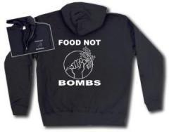 """Zur Kapuzen-Jacke """"Food Not Bombs"""" für 30,00 € gehen."""