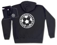 """Zur Kapuzen-Jacke """"Football against racism"""" für 29,24 € gehen."""