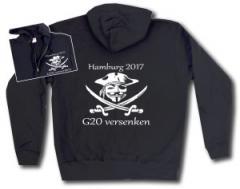 """Zur Kapuzen-Jacke """"G20 versenken"""" für 30,00 € gehen."""