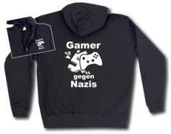 """Zur Kapuzen-Jacke """"Gamer gegen Nazis"""" für 30,00 € gehen."""