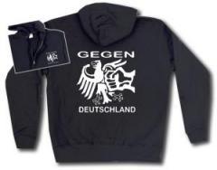 """Zur Kapuzen-Jacke """"Gegen Deutschland"""" für 30,00 € gehen."""