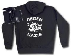 """Zur Kapuzen-Jacke """"Gegen Nazis"""" für 29,24 € gehen."""
