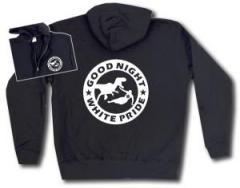 """Zur Kapuzen-Jacke """"Good night white pride - Dinosaurier"""" für 30,00 € gehen."""