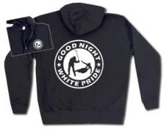 """Zur Kapuzen-Jacke """"Good night white pride - Hockey"""" für 30,00 € gehen."""