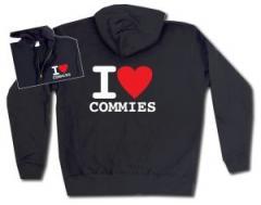 """Zur Kapuzen-Jacke """"I love commies"""" für 30,00 € gehen."""