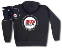 """Zur Kapuzen-Jacke """"Ibiza Ibiza Antifascista (Schrift)"""" für 30,00 € gehen."""