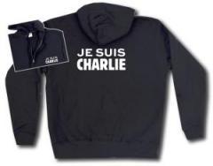 """Zur Kapuzen-Jacke """"Je suis Charlie"""" für 30,00 € gehen."""