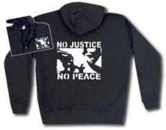 "Zur Kapuzen-Jacke ""No Justice - No Peace"" für 29,24 € gehen."