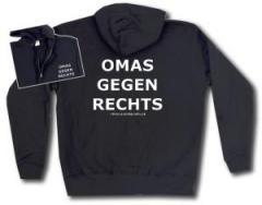 """Zur Kapuzen-Jacke """"Omas gegen Rechts"""" für 30,00 € gehen."""