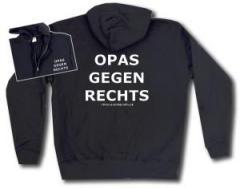 """Zur Kapuzen-Jacke """"Opas gegen Rechts"""" für 30,00 € gehen."""
