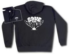"""Zur Kapuzen-Jacke """"Save the Whales"""" für 29,24 € gehen."""