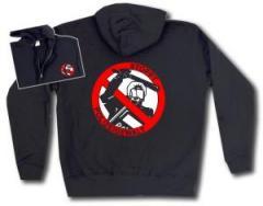 """Zur Kapuzen-Jacke """"Stoppt Polizeigewalt"""" für 30,00 € gehen."""