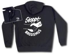 """Zur Kapuzen-Jacke """"Stoppt Rassismus"""" für 30,00 € gehen."""