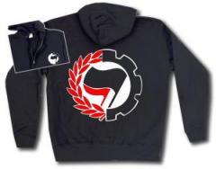 """Zur Kapuzen-Jacke """"Working Class Antifa"""" für 30,00 € gehen."""