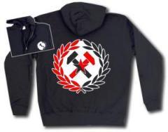 """Zur Kapuzen-Jacke """"Working Class Hammer (rot/schwarz)"""" für 29,24 € gehen."""