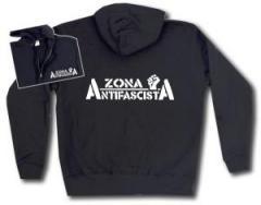 """Zur Kapuzen-Jacke """"Zona Antifascista"""" für 30,00 € gehen."""