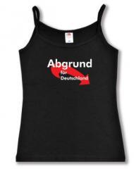 """Zum Top / Trägershirt """"Abgrund für Deutschland"""" für 14,50 € gehen."""