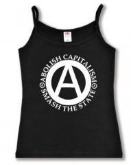 """Zum Top / Trägershirt """"Abolish Capitalism - Smash The State"""" für 12,00 € gehen."""