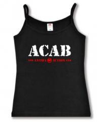 """Zum Top / Trägershirt """"ACAB Antifa Action"""" für 12,00 € gehen."""