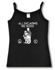 """Zum Trägershirt """"All the Arms we need"""" für 11,70 € gehen."""
