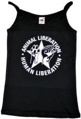 """Zum Trägershirt """"Animal Liberation - Human Liberation (mit Stern)"""" für 11,70 € gehen."""