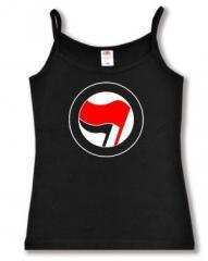 """Zum Trägershirt """"Antifa Logo (rot/schwarz, ohne Schrift)"""" für 11,70 € gehen."""
