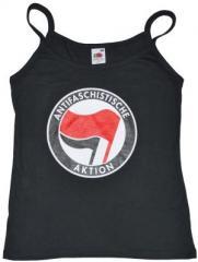 """Zum Top / Trägershirt """"Antifaschistische Aktion (rot/schwarz)"""" für 12,00 € gehen."""