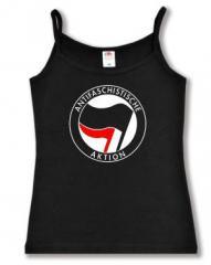 """Zum Top / Trägershirt """"Antifaschistische Aktion (schwarz/rot)"""" für 12,00 € gehen."""
