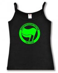 """Zum Top / Trägershirt """"Antispeziesistische Aktion (grün/grün)"""" für 12,00 € gehen."""