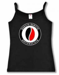 """Zum Top / Trägershirt """"Barista Barista Antifascista (Bohne)"""" für 14,50 € gehen."""