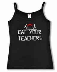 """Zum Top / Trägershirt """"Eat your teachers"""" für 17,50 € gehen."""