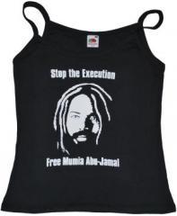 """Zum Top / Trägershirt """"Free Mumia - Stop the Execution"""" für 14,50 € gehen."""