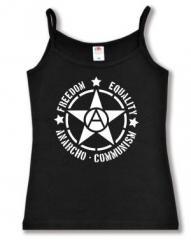 """Zum Trägershirt """"Freedom - Equality - Anarcho - Communism"""" für 12,00 € gehen."""