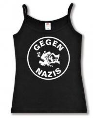 """Zum Top / Trägershirt """"Gegen Nazis (rund)"""" für 12,00 € gehen."""