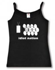 """Zum Top / Trägershirt """"Idiot Nation"""" für 12,00 € gehen."""