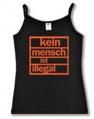 """Zum Trägershirt """"Kein Mensch ist illegal (orange)"""" für 11,70 € gehen."""