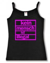 """Zum Top / Trägershirt """"Kein Mensch ist illegal (pink)"""" für 14,50 € gehen."""